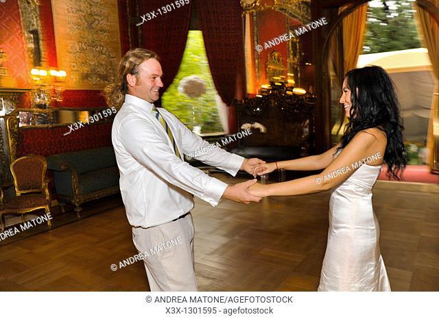 Couple dancing Teatro Brancaccio Rome Italy
