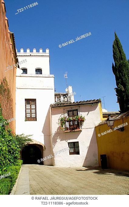 Sevilla Spain Old Jewry Street in the Barrio de Santa Cruz Seville