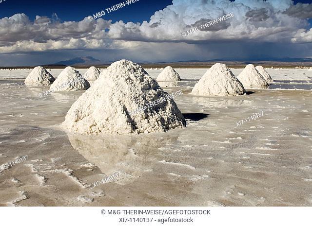 Salt cones, Salar de Uyuni, Potosi, Bolivia