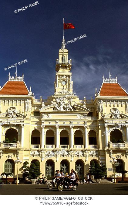 Hotel de Ville or city hall of Saigon (Ho Chi Minh City), Vietnam