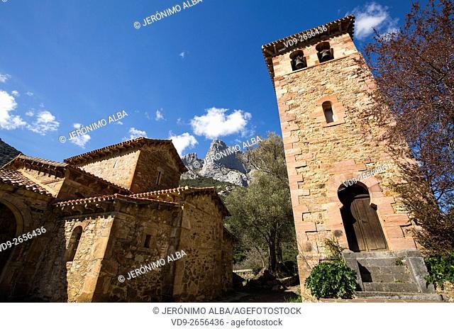 Mozarabic church of Santa Maria de Lebeña. Liébana region, Picos de Europa, Cantabria Spain, Europe