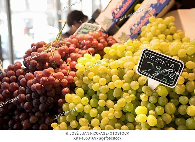 Grapes in a market, Spain