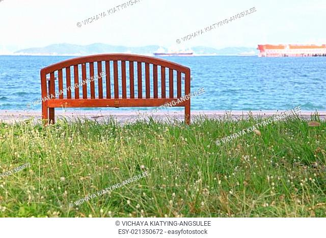 beach chair with sea landscape