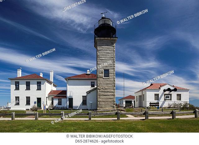 USA, Rhode Island, Jamestown, Beavertail LIghthouse