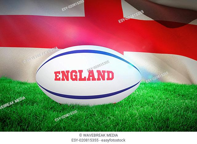 Composite image of england rugby ball
