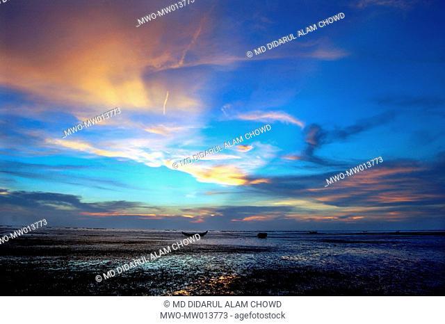 Sunset at the beach Chittagong, Bangladesh February 9, 2006