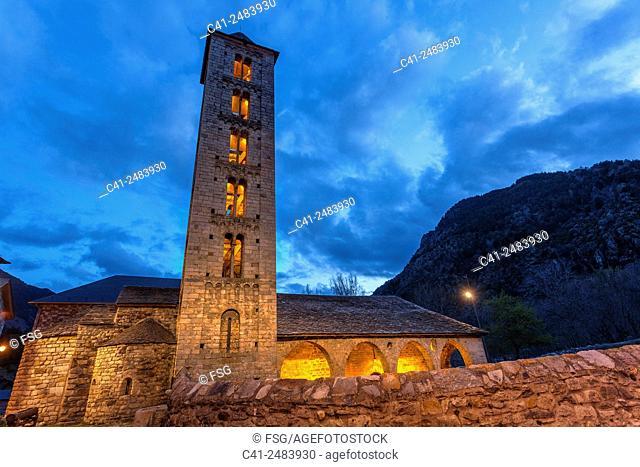 Church of Santa Eulalia. Erill La Vall. Vall de Boí. Lleida. Spain