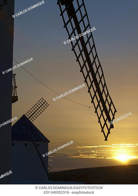 Windmill from Campo de Criptana in Ciudad Real Don Quixote land