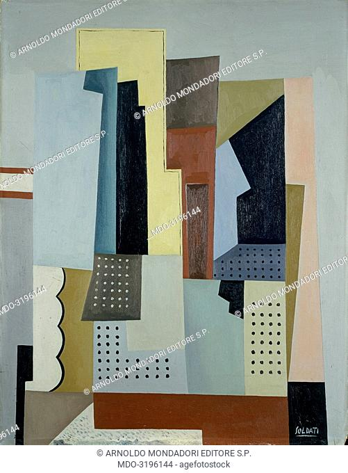The Cities (Le città ), by Atanasio Soldati, 1945, 20th Century, oil on canvas