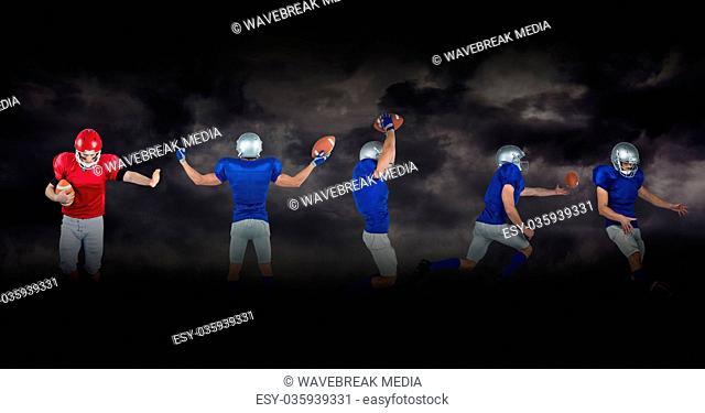 american football players wide black