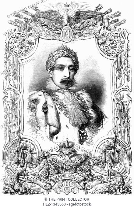 Napoleon III, Emperor of France, 1853. Charles Louis Napoleon Bonaparte (1808-1873) was President of the French Second Republic from 1849 until 1852