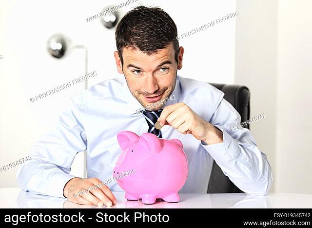coin in piggy bang