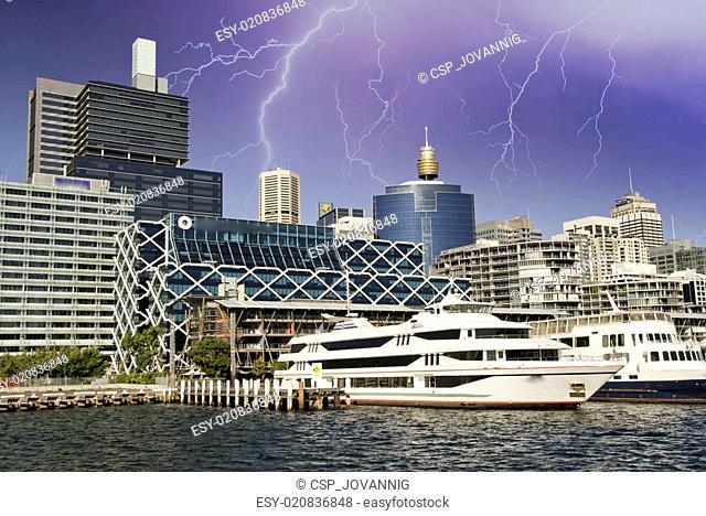 Storm over Sydney Buildings