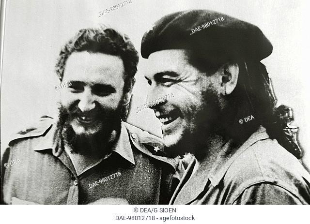 Cuba- 20th century - Havana - Revolution Museum - Ernesto Che Guevara and Fidel Castro- photo