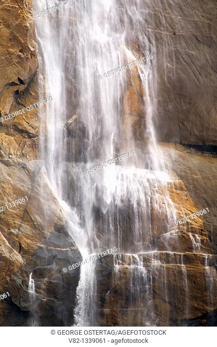 Upper Yosemite Falls from Yosemite Falls Trail, Yosemite National Park, CA