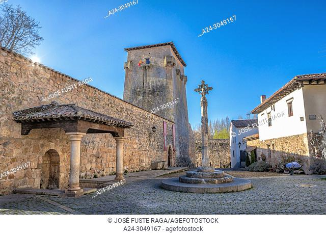 Spain, Burgos Province, Covarubias City, Torreon Ferna Gonzalez