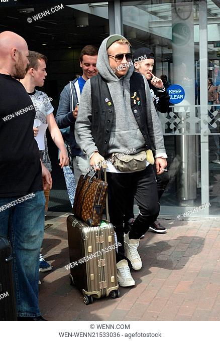 Macklemore & Ryan Lewis feat Wanz arrived at Dublin Airport ahead of their concert at Marlay Park tomorrow, Dublin, Ireland - 09.07.14