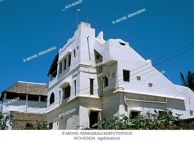 Shela. Typical architecture. Lamu Island. Indian Ocean Coast. Kenya