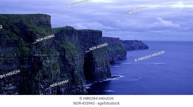 A range of cliffs
