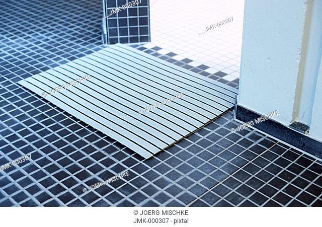 Doormat in a spa, shower cabin