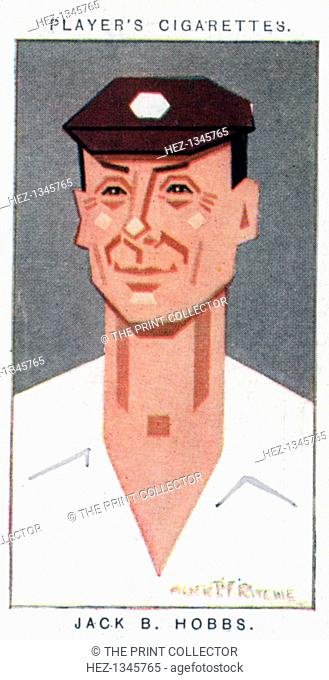 Sir Jack Hobbs, British cricketer, 1926. Portrait of Sir John Berry 'Jack' Hobbs (1882-1963) who played cricket for Surrey and England