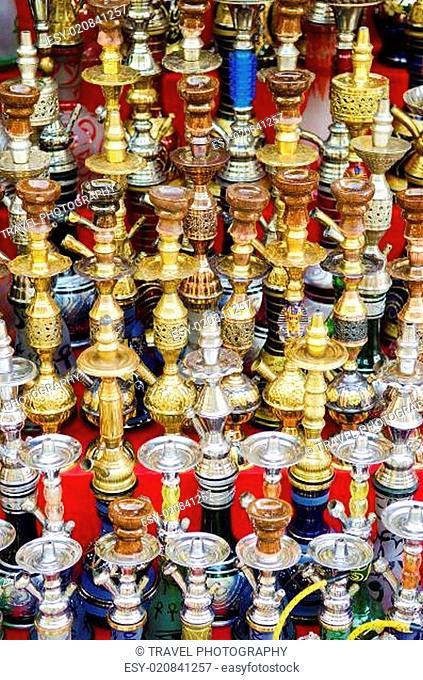 narguileh shisha pipes in cairo egypt