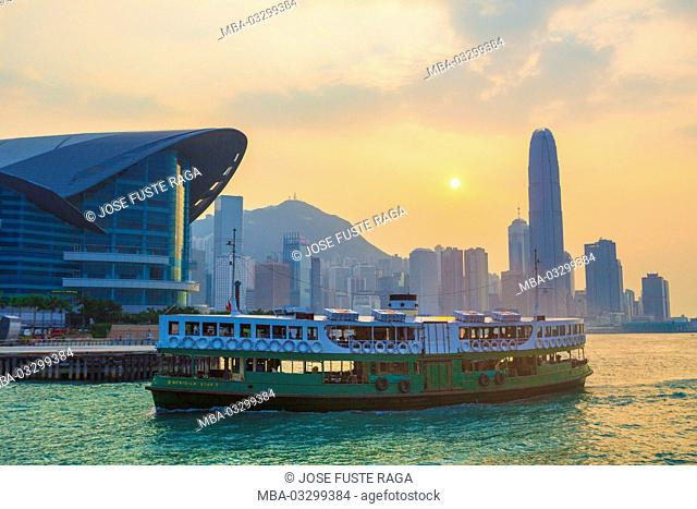 Ferry on the way, Hong Kong