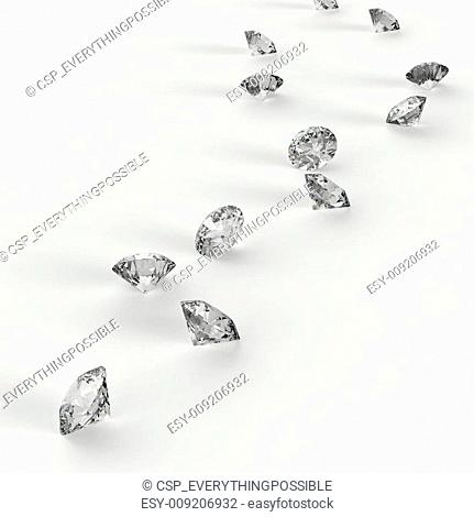Diamonds 3d in composition