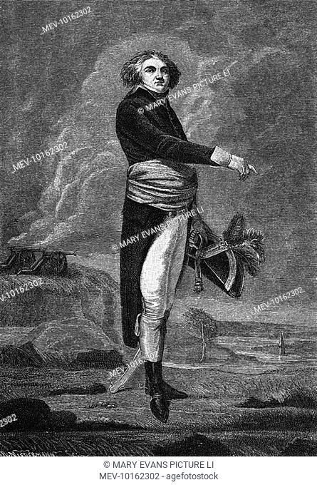 JEAN-BAPTISTE KLEBER French military commander in heroic posture on a rocky shore