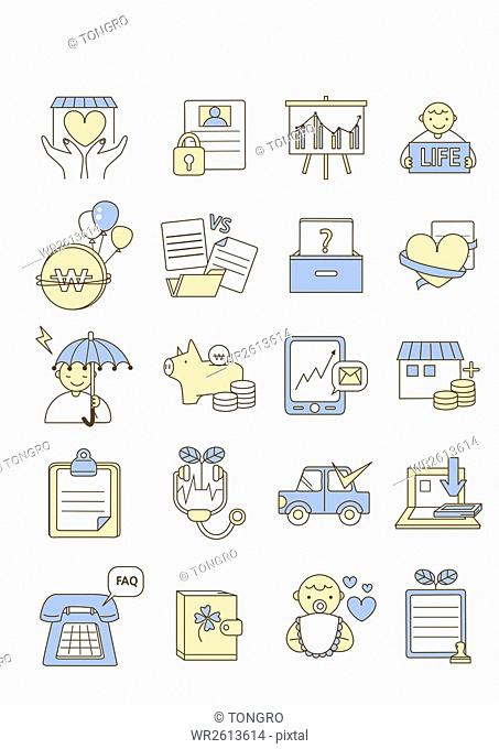 Icons related to insurance