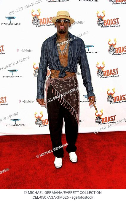 Dennis Rodman at arrivals for Comedy Central Celebrity Roast of Pamela Anderson, Sony Studios, Los Angeles, CA, August 07, 2005