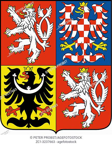 National coat of arms of the Czech Republic