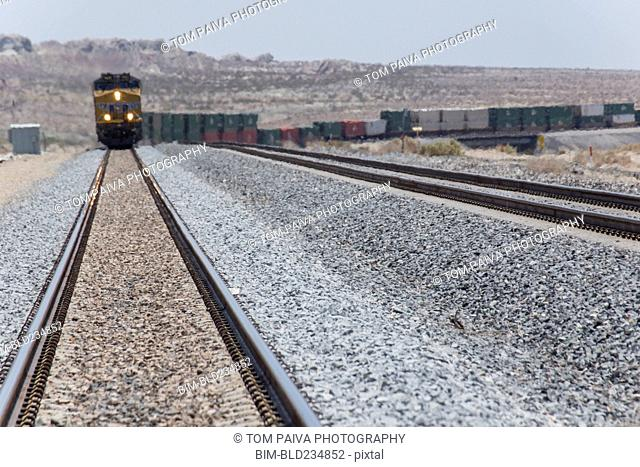 Train approaching on railroad track
