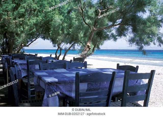 Restaurant near beach Ikaria, N E  Aegean, Greece