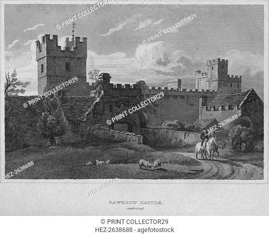 'Naworth Castle, Cumberland', 1814. Artist: John Greig