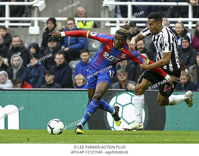 2019 EPL Premier League Football Newcastle United v Crystal Palace Apr 6th. 6th April 2019, St James Park, Newcastle upon Tyne