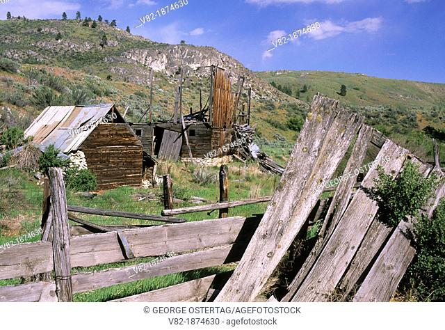 Ranch outbuildings on North Star Rd, Okanogan County, Washington