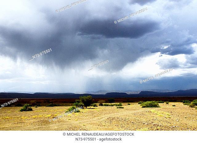 Maroc, Sud Marocain, Nuage d'orage