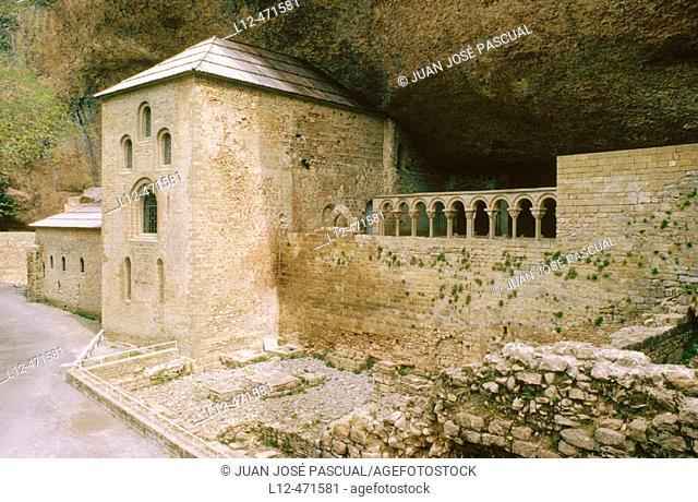 San Juan de la Peña monastery. Huesca province, Aragón, Spain