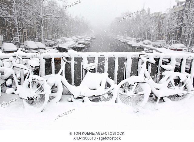 Winter of 2010 in Amsterdam, Netherlands