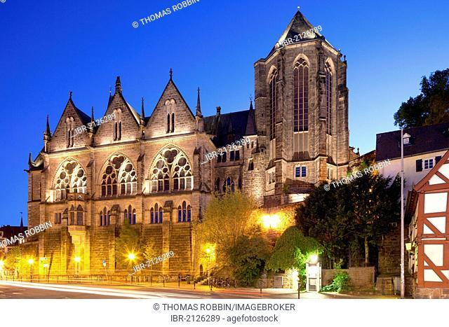 Old University, University Church, Marburg, Hesse, Germany, Europe, PublicGround