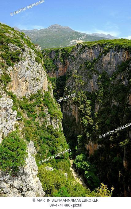 Gjipe Canyon, between Dhërmi and Himara, Himarë, Albanian Riviera, Ionian Sea, Qark Vlorë, Albania
