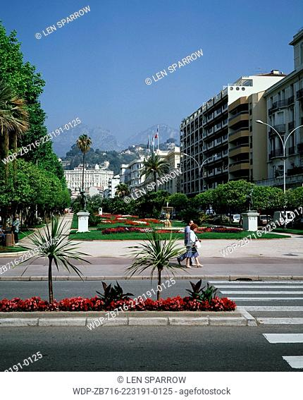 Public gardens in the resort of Menton in the French Riviera