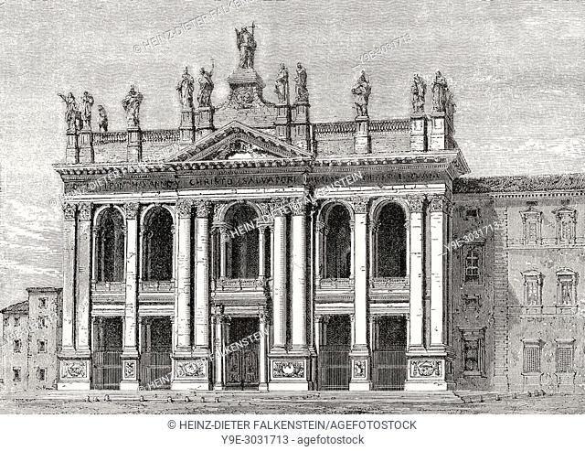 Basilica of Saint John Lateran, Rome, Italy, 19th Century