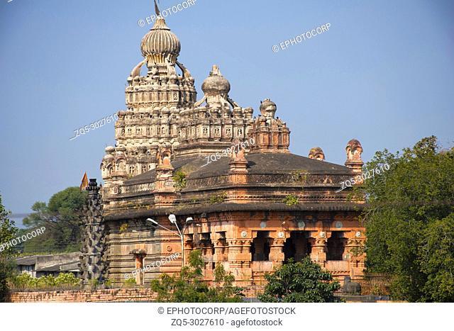 Sangameshwar temple facade, Saswad in Pune District, Maharashtra. Built alongside the confluence of rivers Karha and Chamli. Dedicated to Lord Shiva