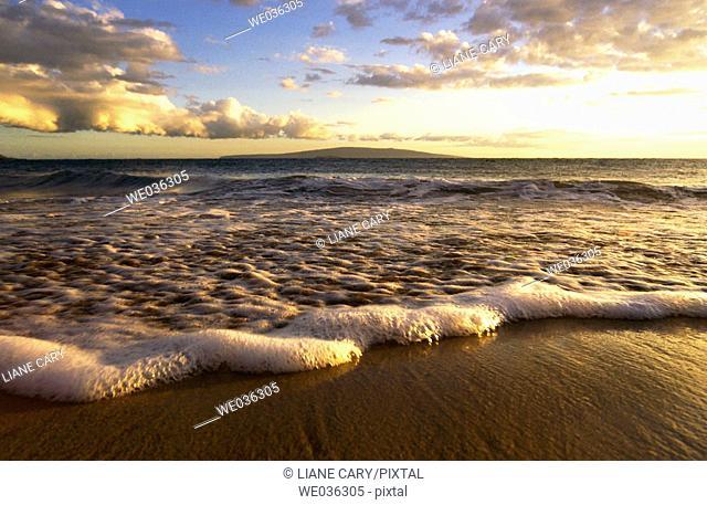 Beach sunset. Maui, Hawaii, USA