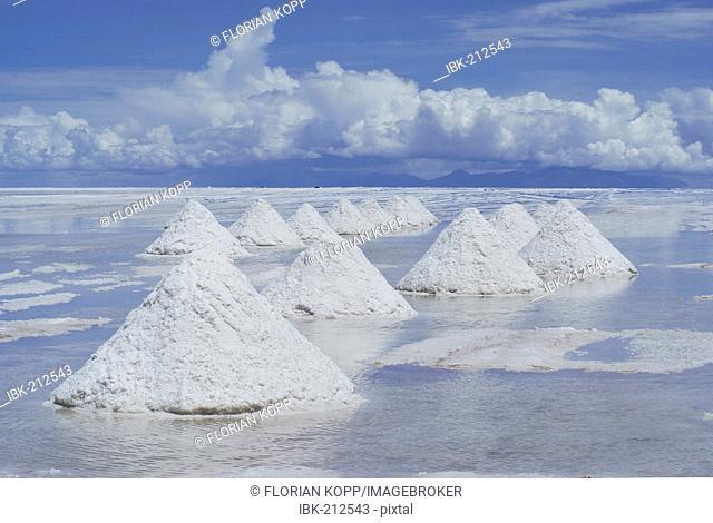 Salt pyramides - salt excavation in Salar de Uyuni, Bolivia