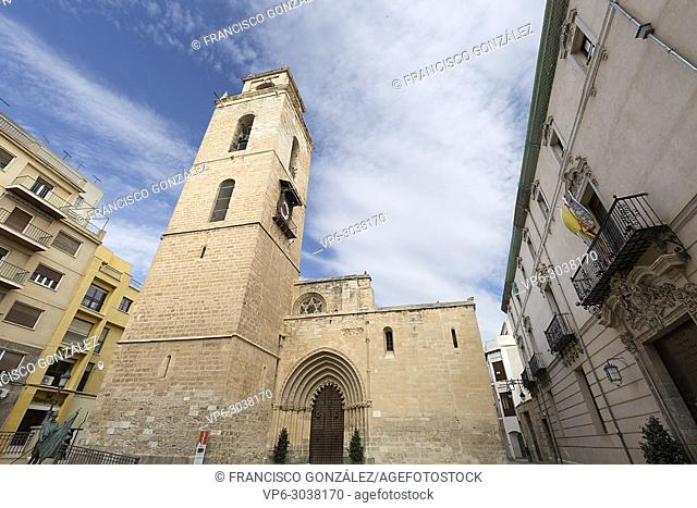 The Holy Church Cathedral of Salvador and Santa María de Orihuela, or simply Orihuela Cathedral, in the province of Alicante, Spain