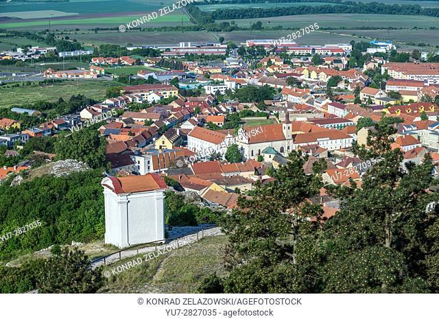 Way of the Cross station on the Holy Hill (Svaty Kopecek) in Mikulov town, Moravian Region in Czech Republic