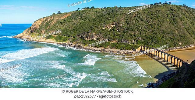 Railway bridge over Kaaimansrivier (Kaaimans River). Garden Route. Western Cape. South Africa